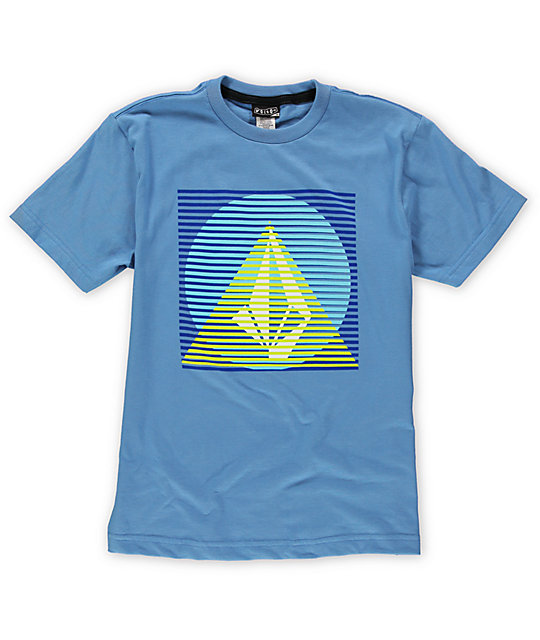 Volcom Boys Line Pyramid Blue T-Shirt
