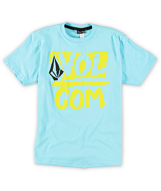 Volcom Boys Linked Up Blue T-Shirt