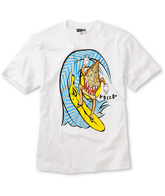 Volcom Boys Monkey Shacka White T-Shirt