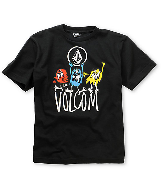 Volcom Boys Ragers Black T-Shirt
