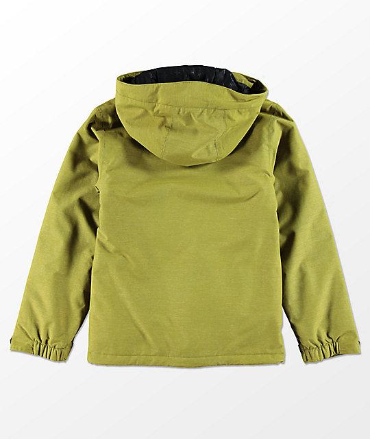 42b464735a7d Volcom Boys Selkirk Moss Insulated 10K Snowboard Jacket