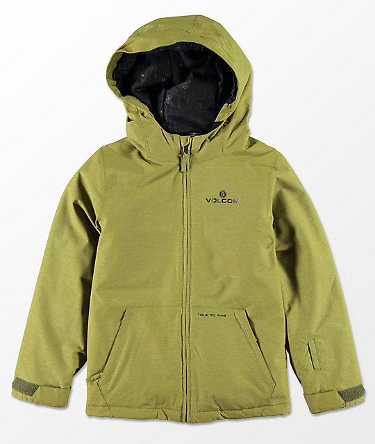 7d3a53bc663a Volcom Boys Selkirk Moss Insulated 10K Snowboard Jacket