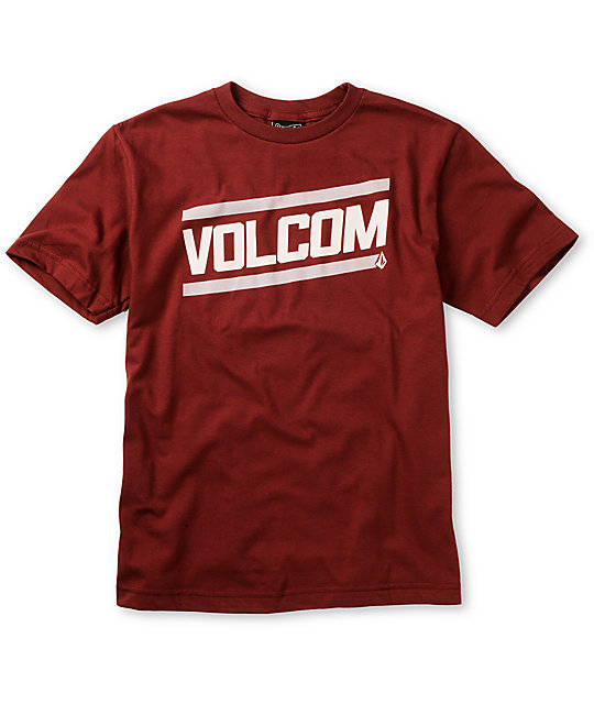 Volcom Boys Speed Shop Maroon T-Shirt