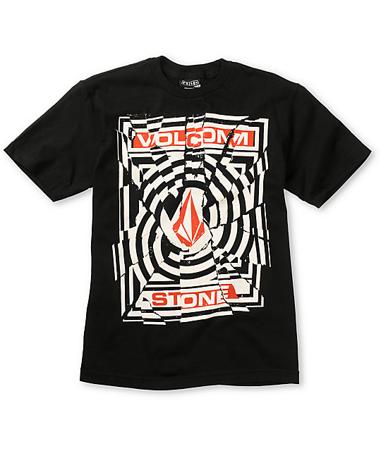 Volcom Boys Splice Black T-Shirt