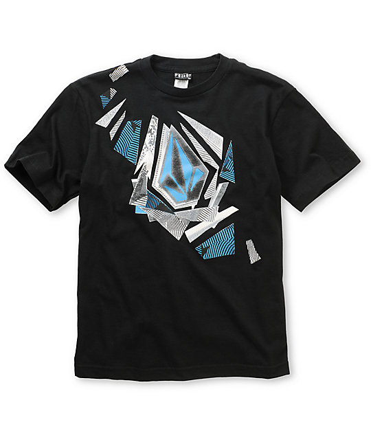 Volcom Boys Stone Sharded Black T-Shirt