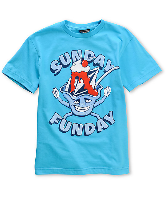 Volcom Boys Sunday Funday Teal T-Shirt