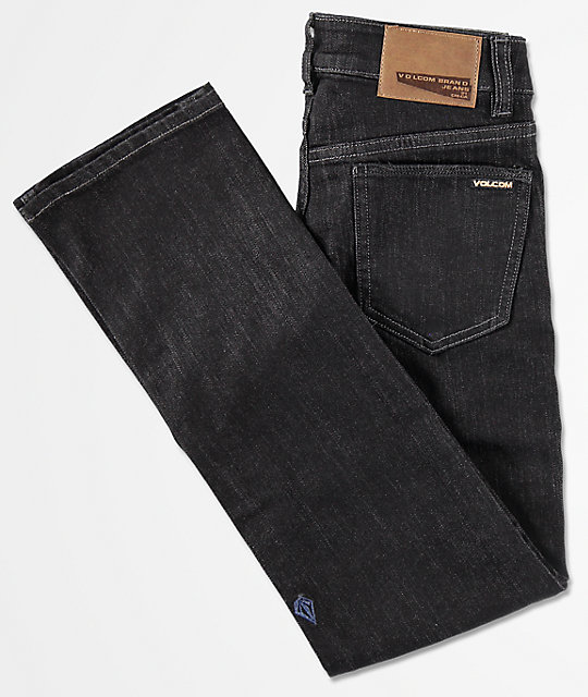 Volcom Boys Vorta Black Rinser Denim Jeans