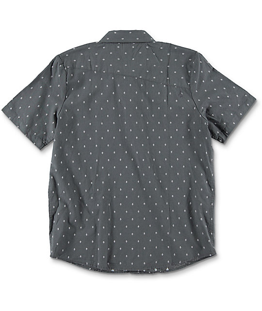 Volcom Boys Zeller Black Button Up Shirt