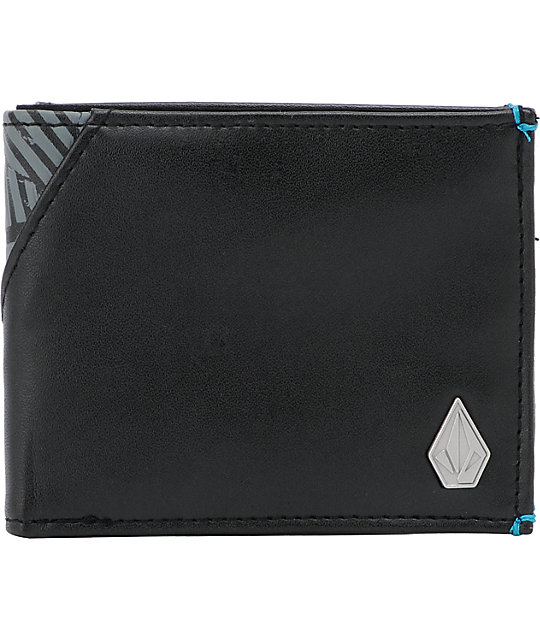 Volcom Break Up Black Bifold Wallet