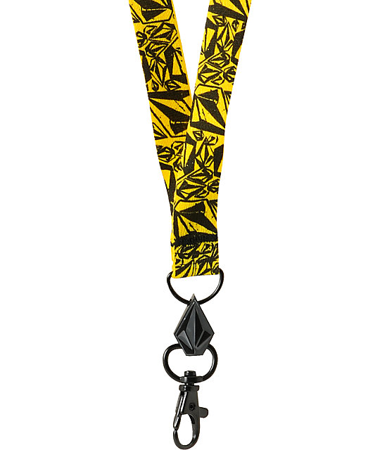Volcom Bunch O Stones Yellow & Black Lanyard
