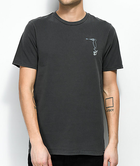 Volcom Burch Bird Washed Black T-Shirt