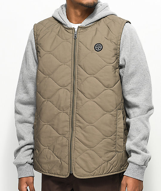 Volcom Buster Puffer 2fer Vested Hoodie