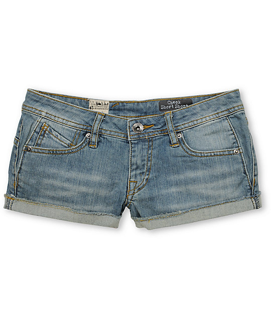 Volcom Check In 2.5 Denim Shorts
