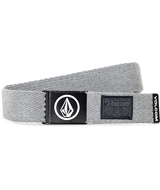 Volcom Circle Heather Grey Web Belt