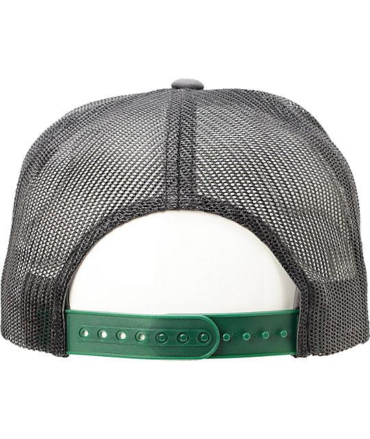 df3a5f6b4eb7b ... Volcom Circle Patch Greey   Green Trucker Hat