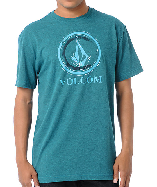 Volcom Circle Stain Heather Green T-Shirt