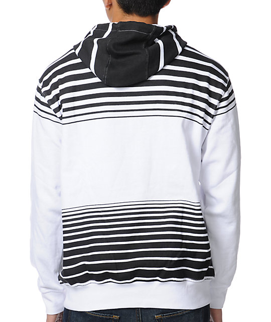 Volcom Cred White Stripe Pullover Hoodie