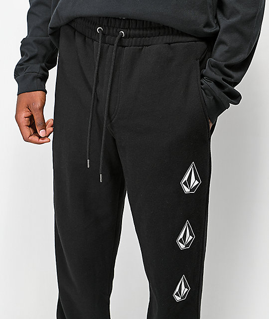 Volcom Deadly Stone Black Fleece Sweatpants