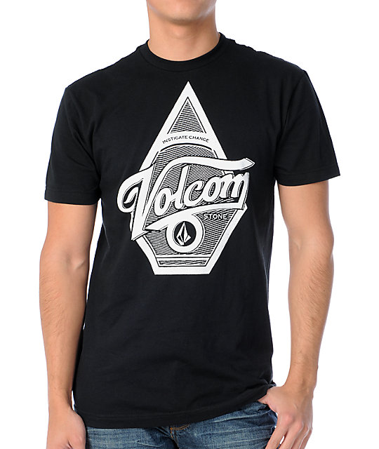 Volcom Double Swoop Black T-Shirt