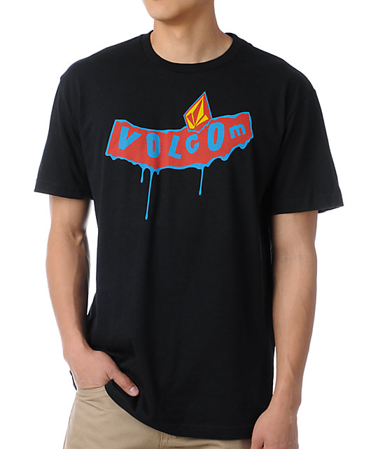 Volcom Dripping Pistol Black T-Shirt