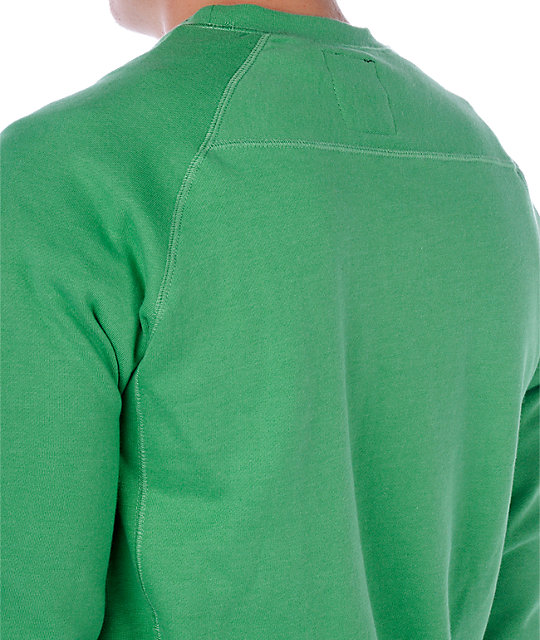 Volcom Duster Green Crew Neck Sweatshirt