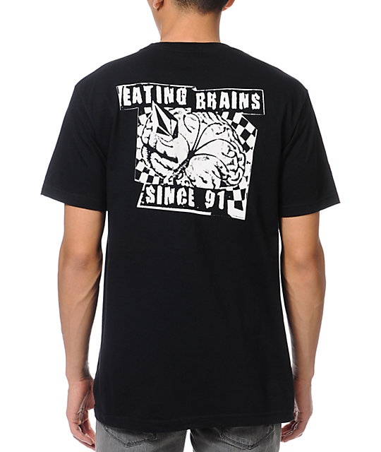 Volcom Eating Brains Black T-Shirt