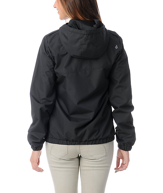 Volcom Enemy Lines Black Windbreaker Jacket