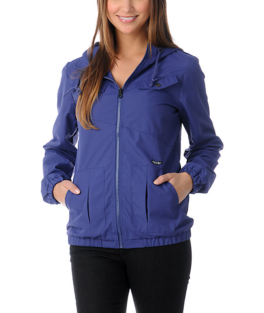 Volcom Enemy Lines Blue Windbreaker Jacket