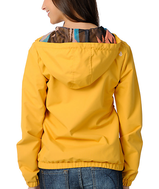 42761596105 ... Volcom Enemy Lines Mustard Windbreaker Jacket