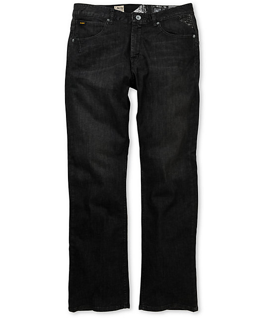 Volcom Enowen Relaxed Fit Black Worn Wash Jeans