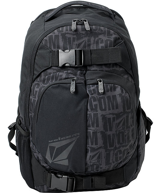 Volcom Equilibrium Black Skate Backpack