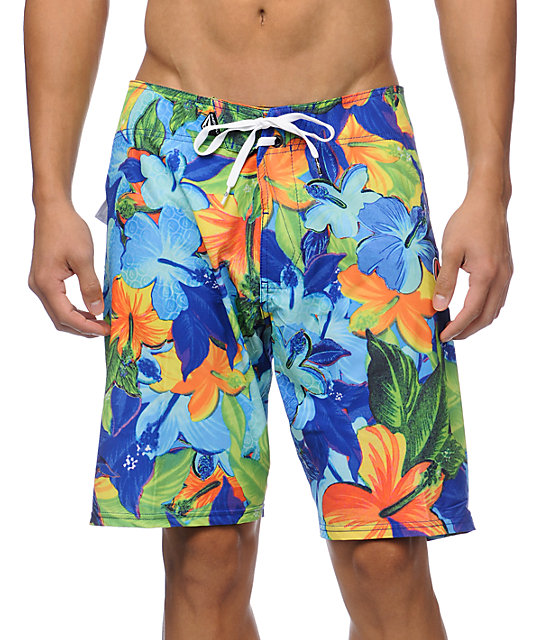 Volcom Floral Fun Blue 20 Board Shorts