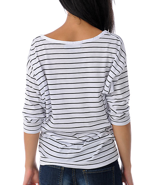 Volcom For Crying Out Loud Stripe Dolman Top