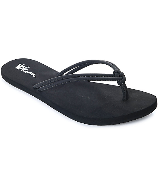 Volcom Forever And Ever Black Sandals