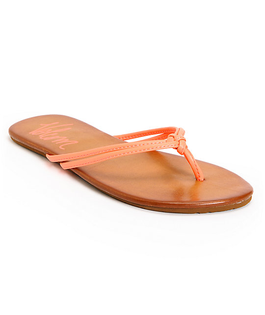 Volcom Forever Neon Coral Creedler Sandals