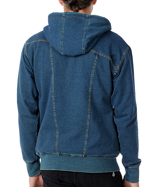 Volcom Fred Sherpa Hooded Jean Jacket