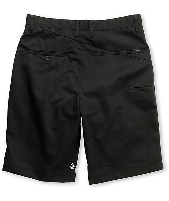 Volcom Frickin Black Chino Shorts