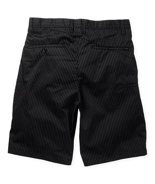 Volcom Frickin Chino Black Pin Stripe Shorts