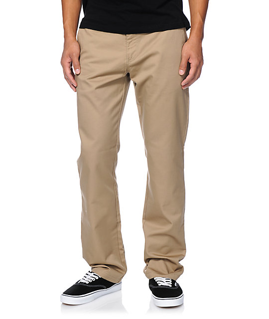 Volcom Frickin Modern Regular Fit Khaki Chino Pants