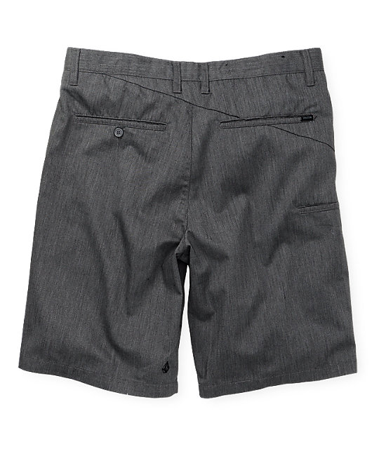 Volcom Frickin Solid Chino Charcoal Shorts