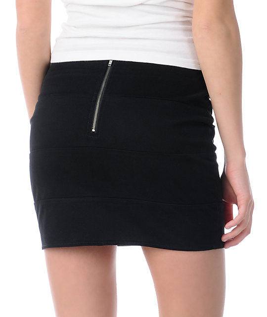 Volcom Frochickie Black Mini Skirt