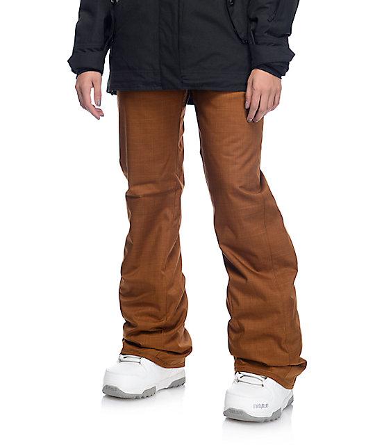 Volcom Frochickie Copper 8k Insulated Snowboard Pants Zumiez