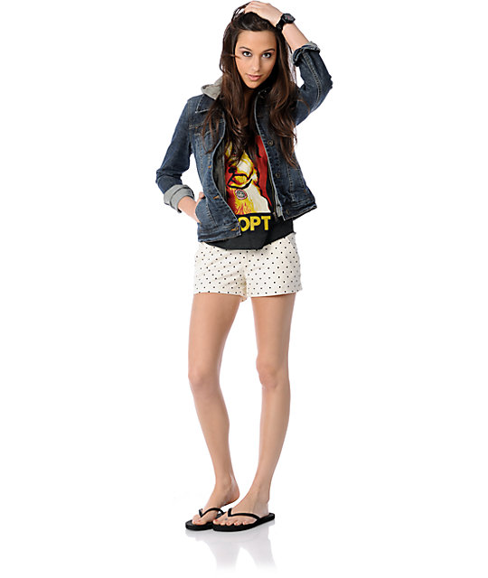 Volcom Frochickie Cream Polka Dot Shorts