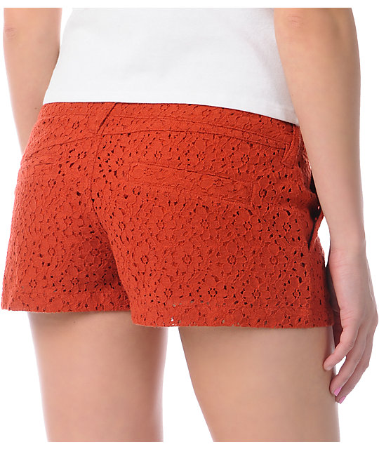 Volcom Frochickie Laced Rusty Red 2 Shorts
