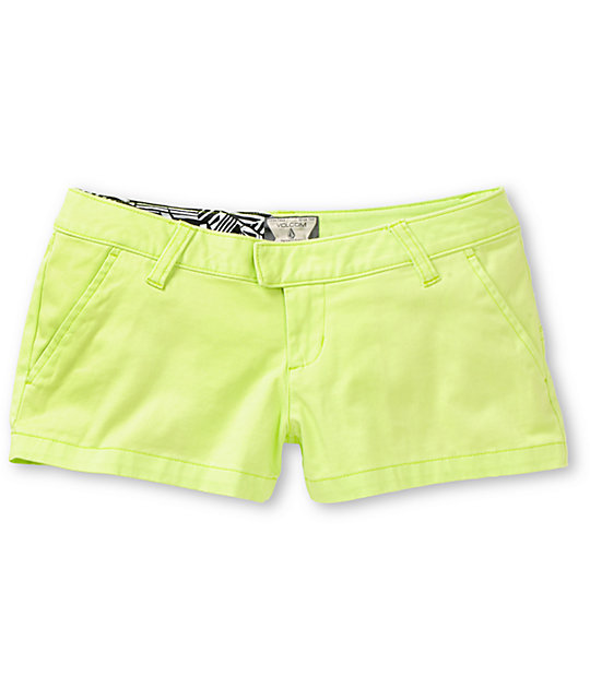 Volcom Frochickie Lime Green Shorts