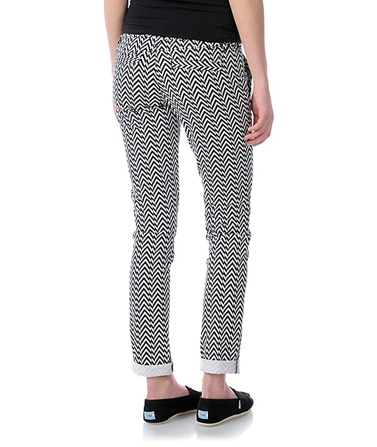 Volcom Frochickie Print Matchstick Skinny Pants