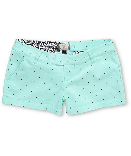 Volcom Frochickie Teal Dot Shorts