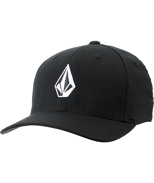 Volcom Full Stone Black Flexfit Hat