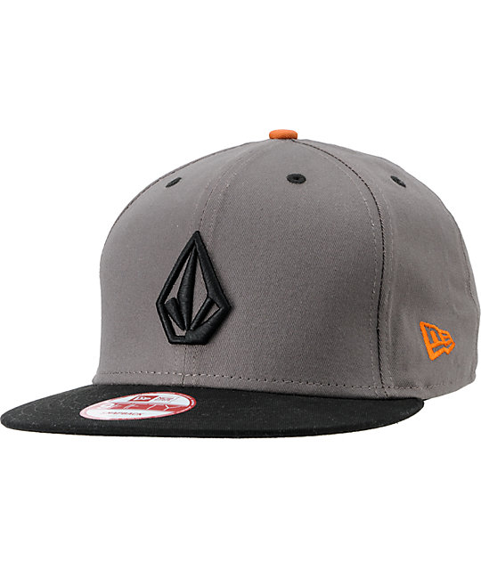 Volcom Full Stone Grey   Black New Era Snapback Hat  6980f6ee5d7