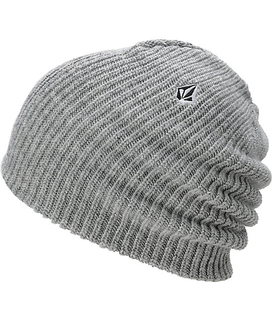 Volcom Full Stone Heather Grey Cuff Beanie